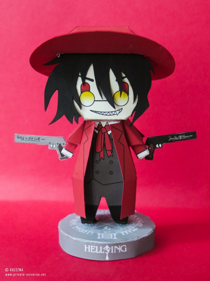 Paperized papertoy Alucard 01