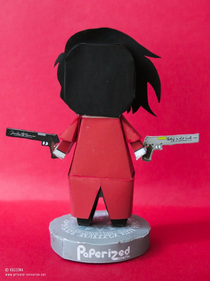 Paperized papertoy Alucard 03