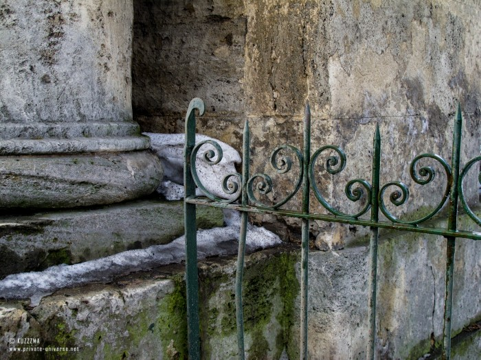 Marble and iron