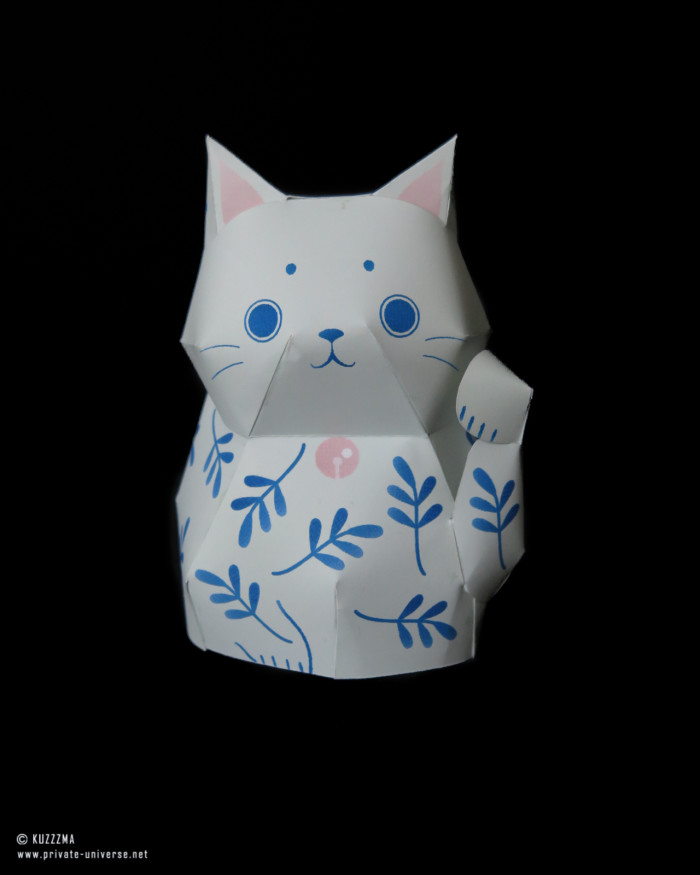 13.02.2021 Lucky cat papertoy 01