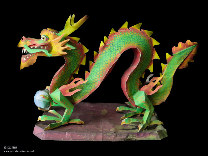 01.09.2019 Dragon with a pearl papercraft by Canon