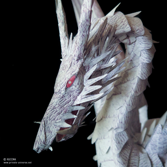 07.01.2015 Tales from Earthsea dragon papercraft