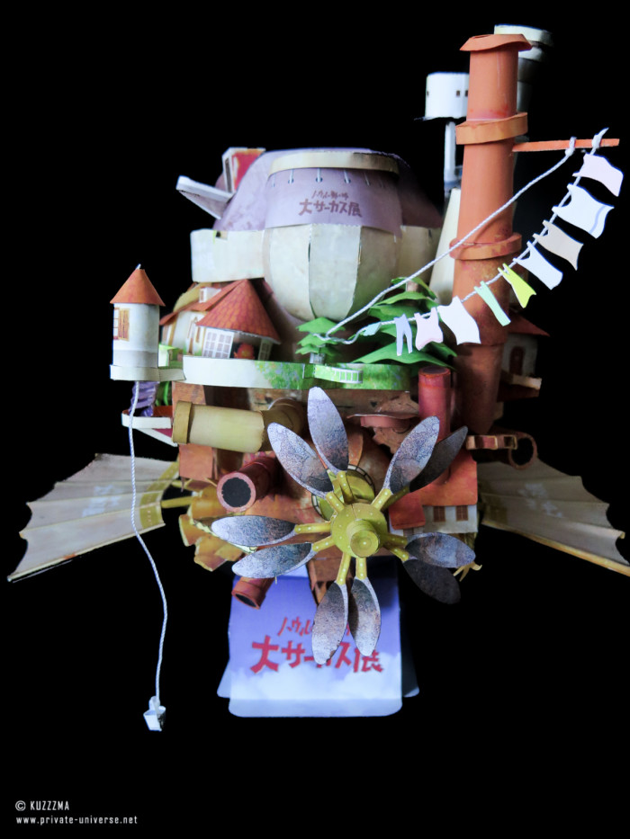 08.05.2018 Howl's Flying Castle papercraft 04