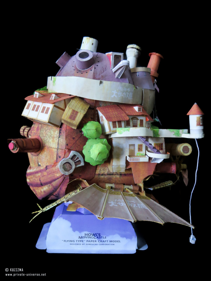 08.05.2018 Howl's Flying Castle papercraft 06