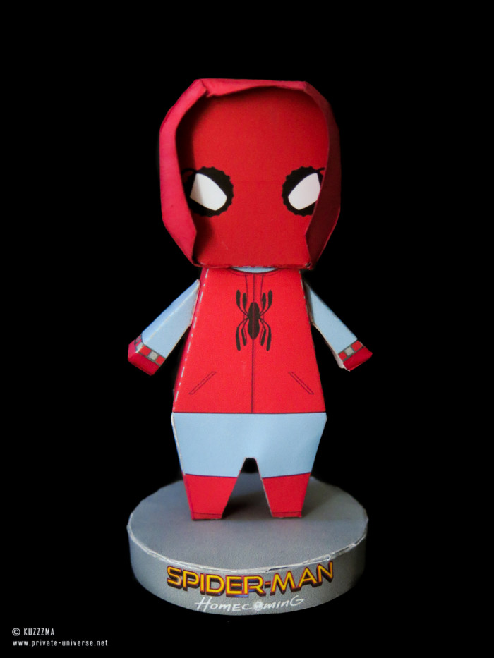 15.05.2018 Paperized Spiderman (Homemade suit) papertoy