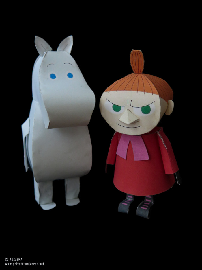16.04.2018 Moomin Troll and Little My papercraft