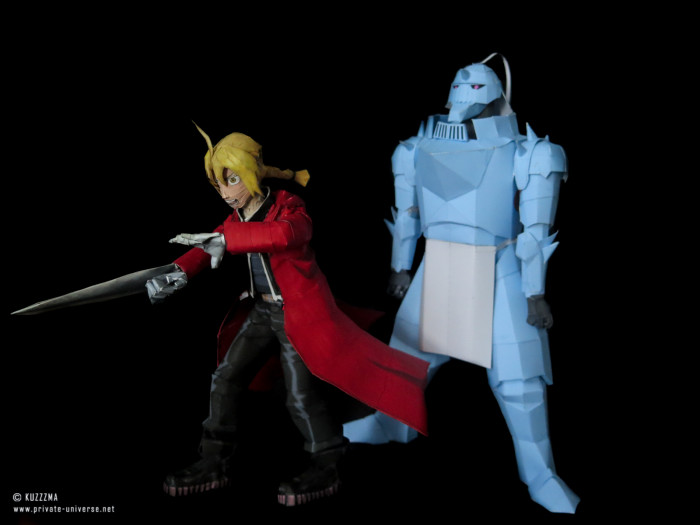 11.08.2018 Elric brothers papercraft 01
