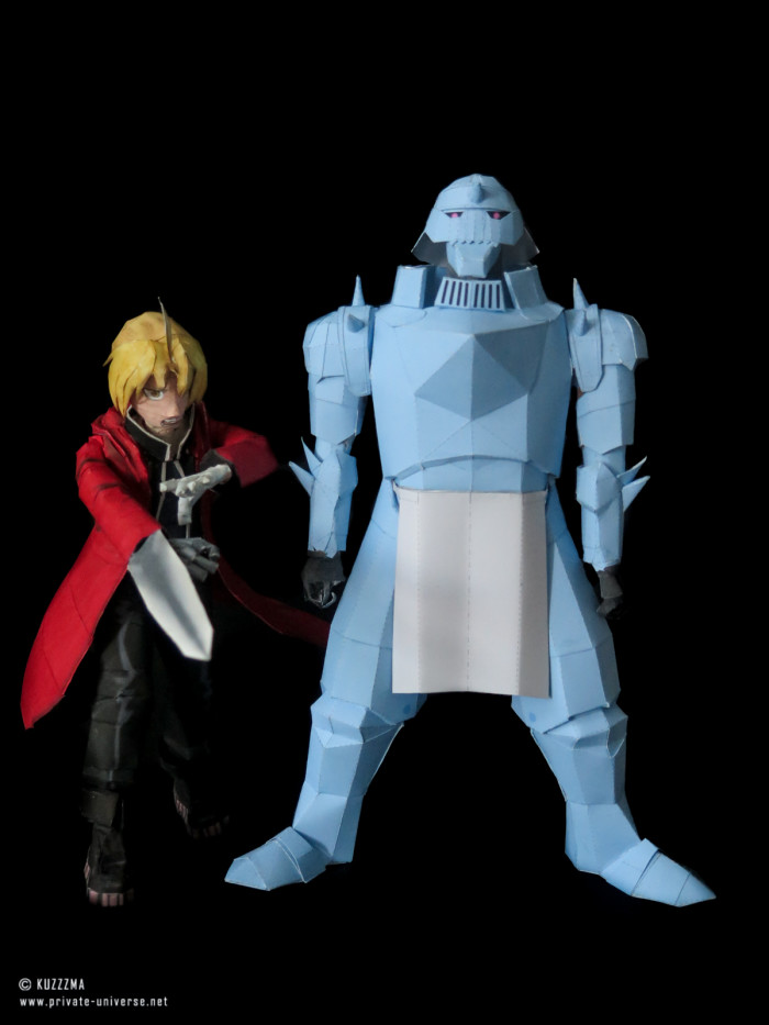 11.08.2018 Elric brothers papercraft 02