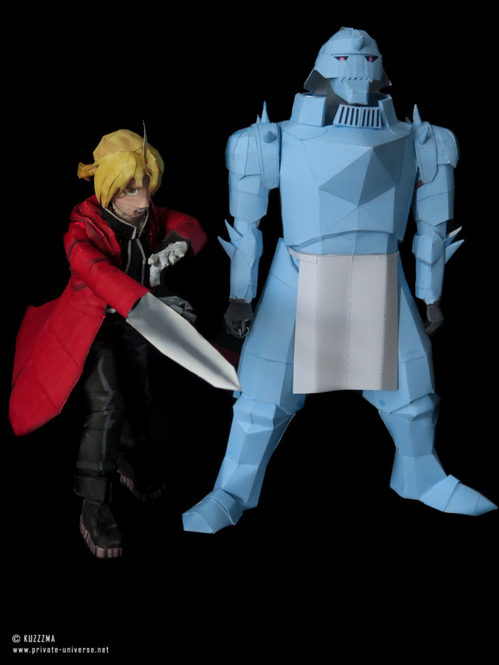 11.08.2018 Elric brothers papercraft 03