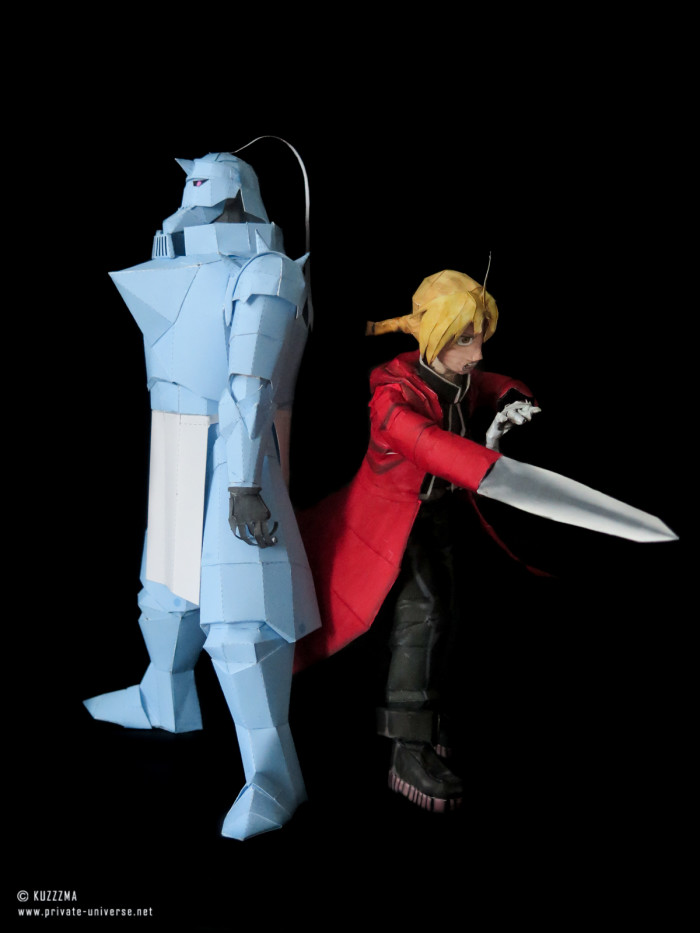 11.08.2018 Elric brothers papercraft 04