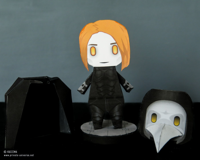 05.08.2021 Major Grom Plague Doctor papertoy accessories 02